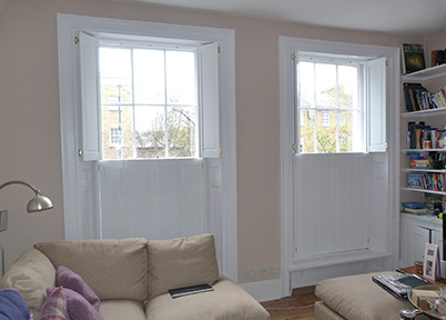 Solid Wood Window Shutter North London