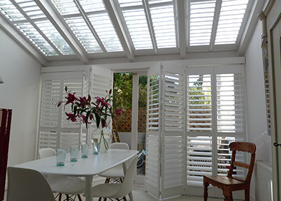 Conservatory Wooden Window Shutters